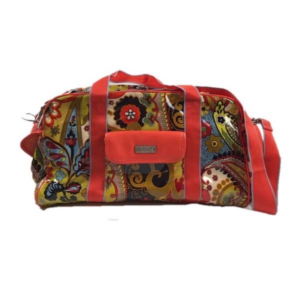hadaki Handbags - Hadaki Coated Canvas Paisley Print Duffle Bag